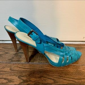 Nine West leather Charmo Pump in teal